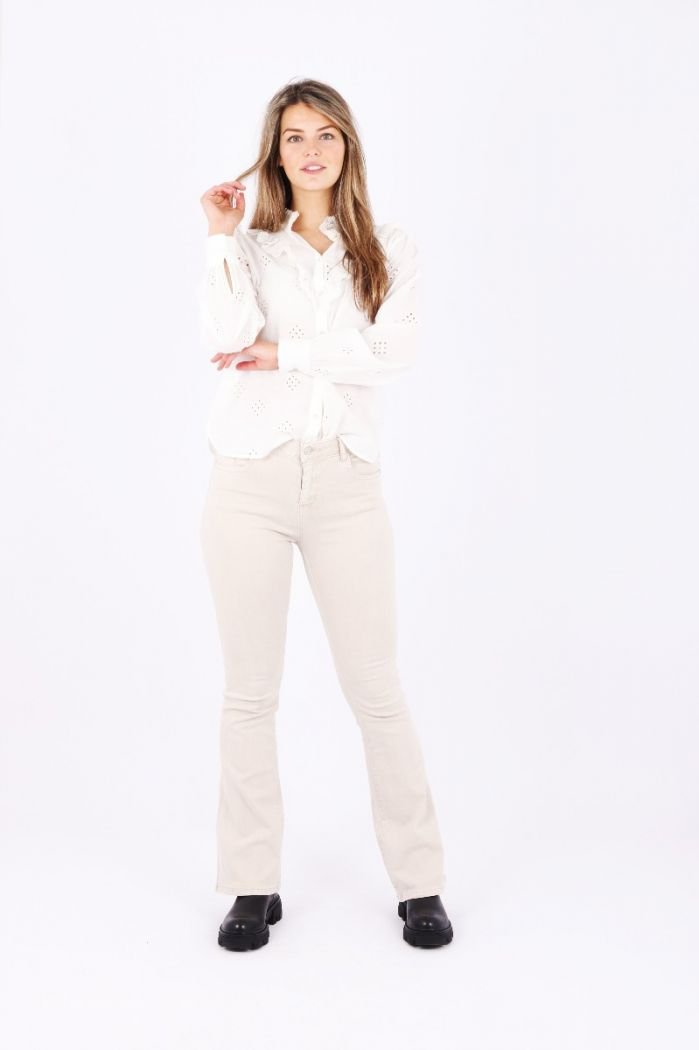 flare jeans beige
