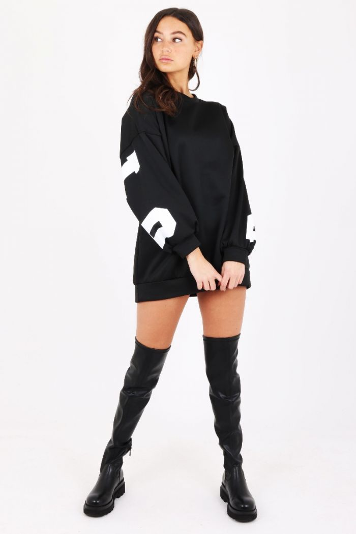 oversized sweater zwart