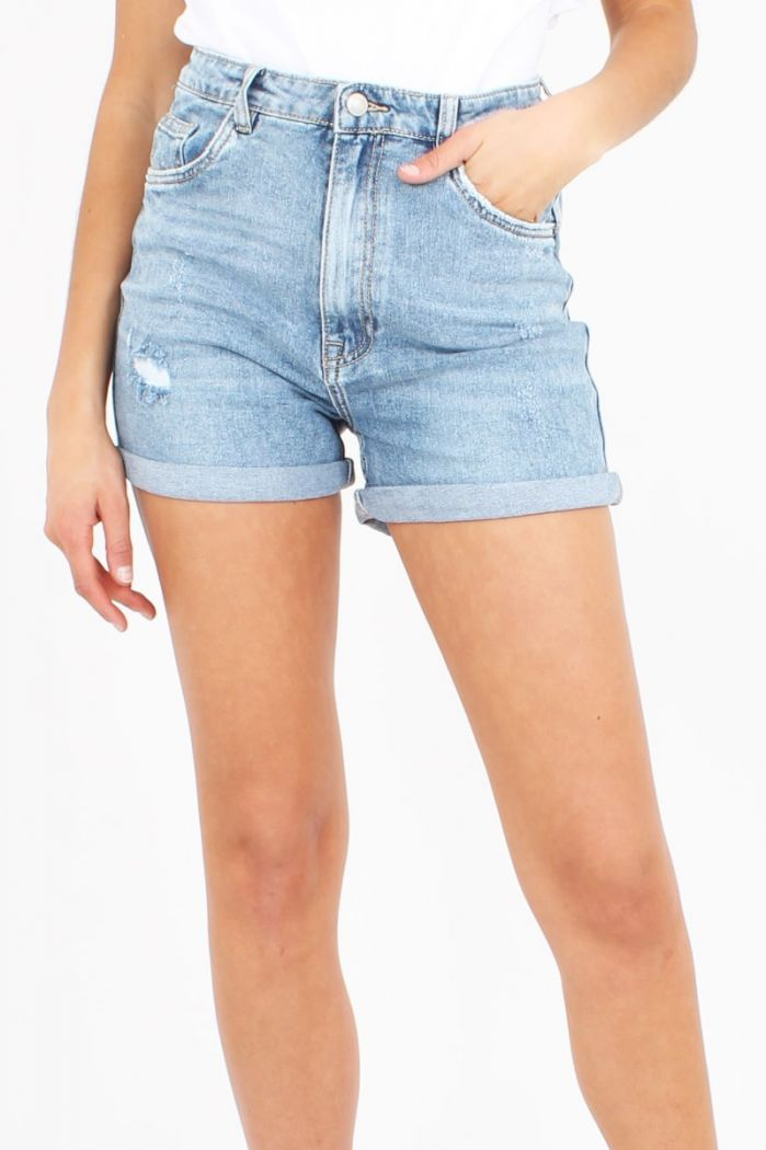 Blauwe Denim Short