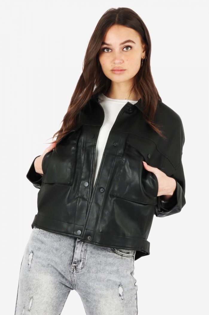 leather look jas