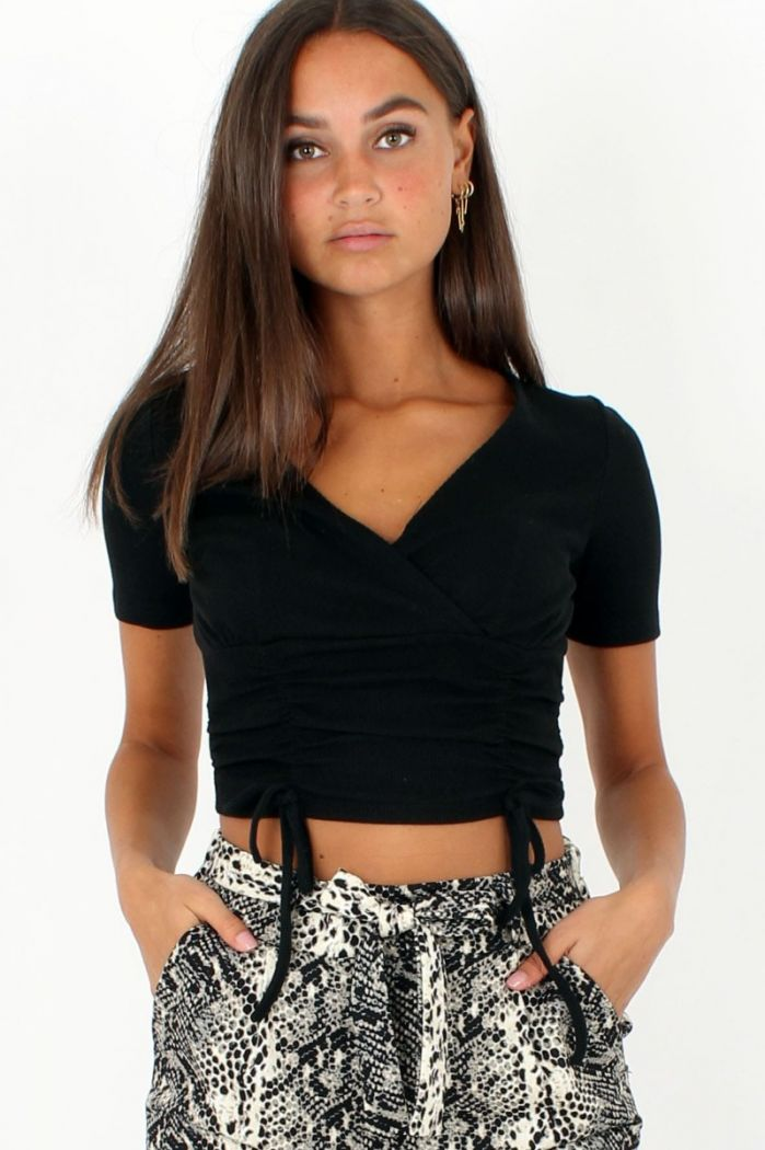 Zwarte Crop Top