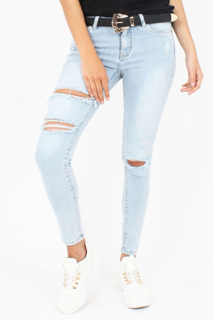 Ripped Queen Hearts Jeans