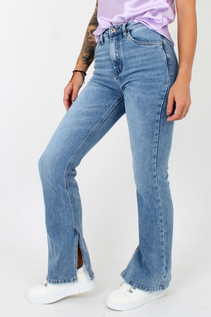 Queen Hearts Denim Flared Jeans