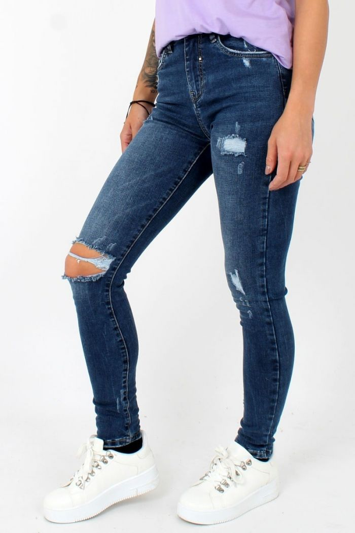 Destroyed Queen Hearts Jeans