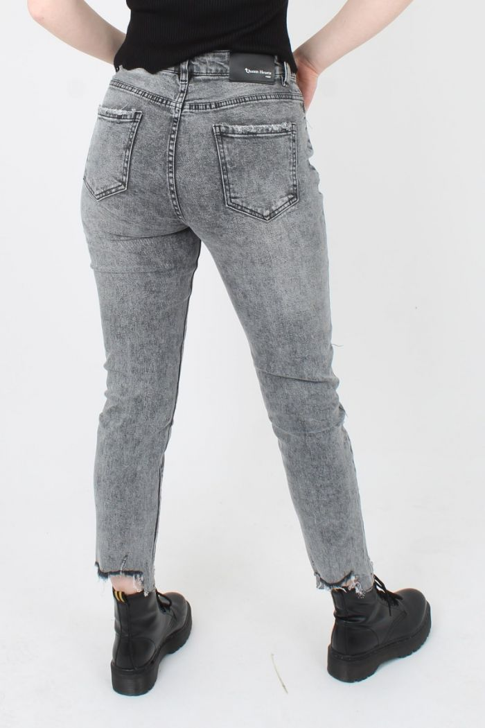 Queen Hearts Mom Fit Jeans