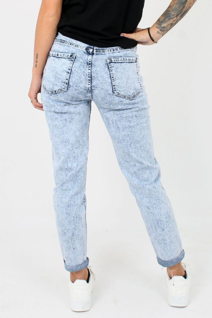 Blauwe Queen Hearts Mom Jeans