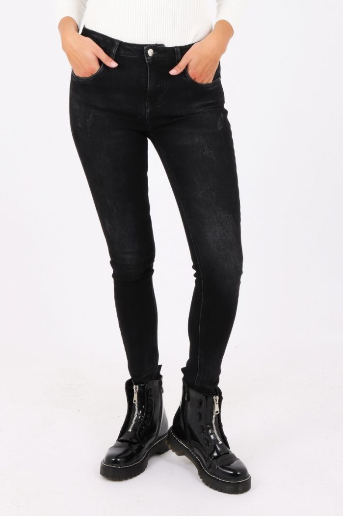 queen hearts skinny jeans black