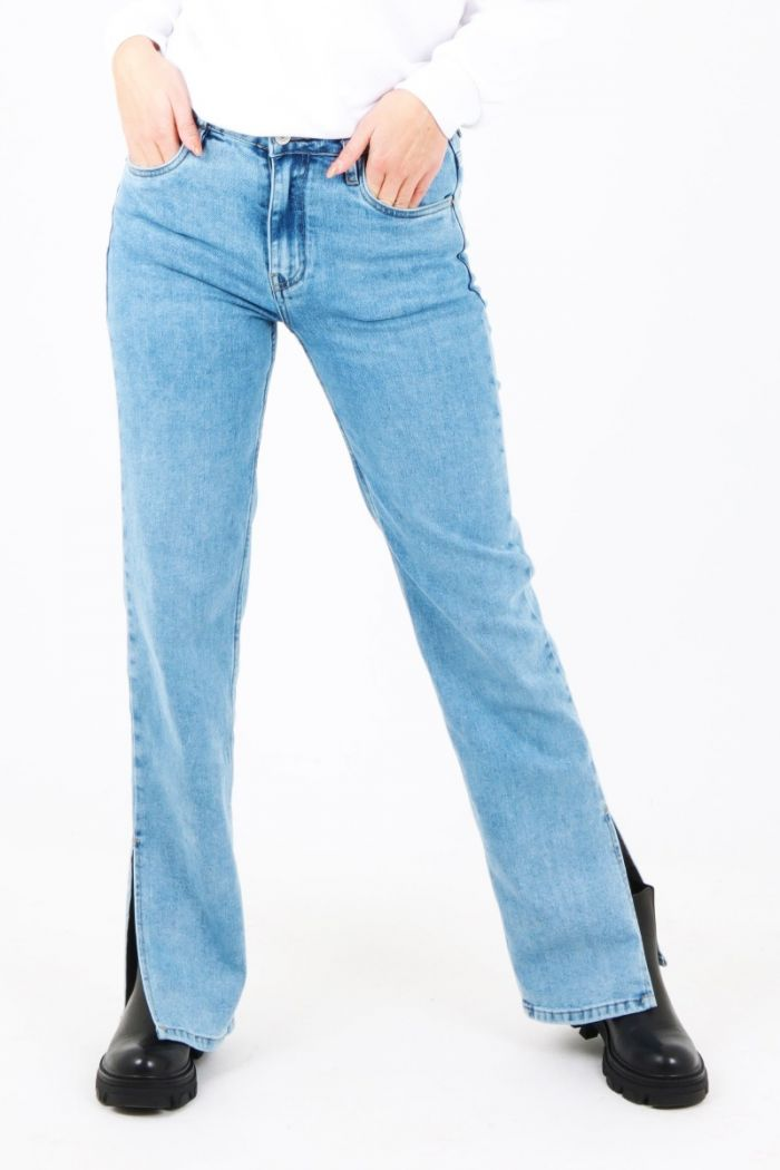 Queen Hearts split jeans blauw