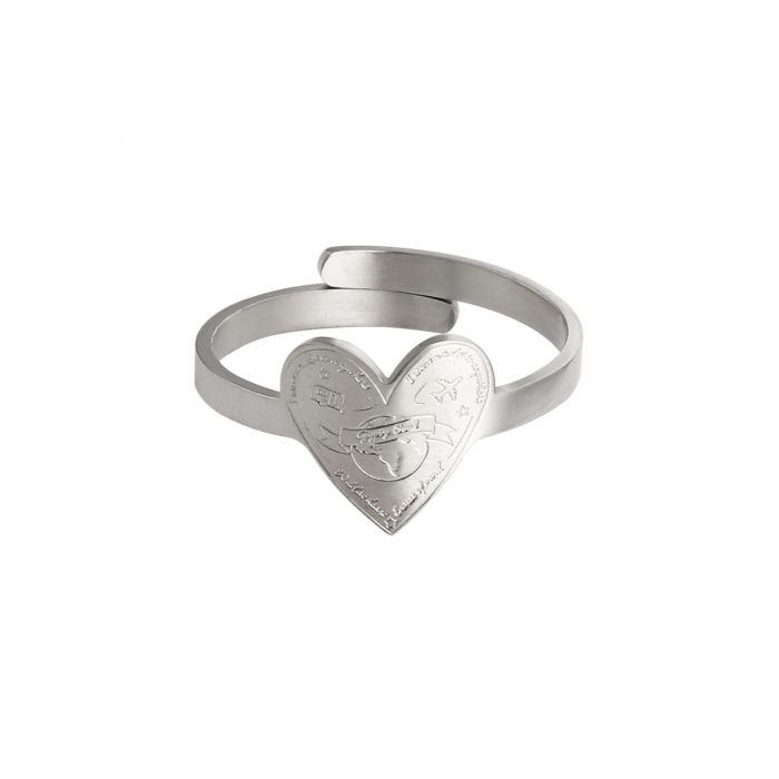 Ring Love To Travel Zilver