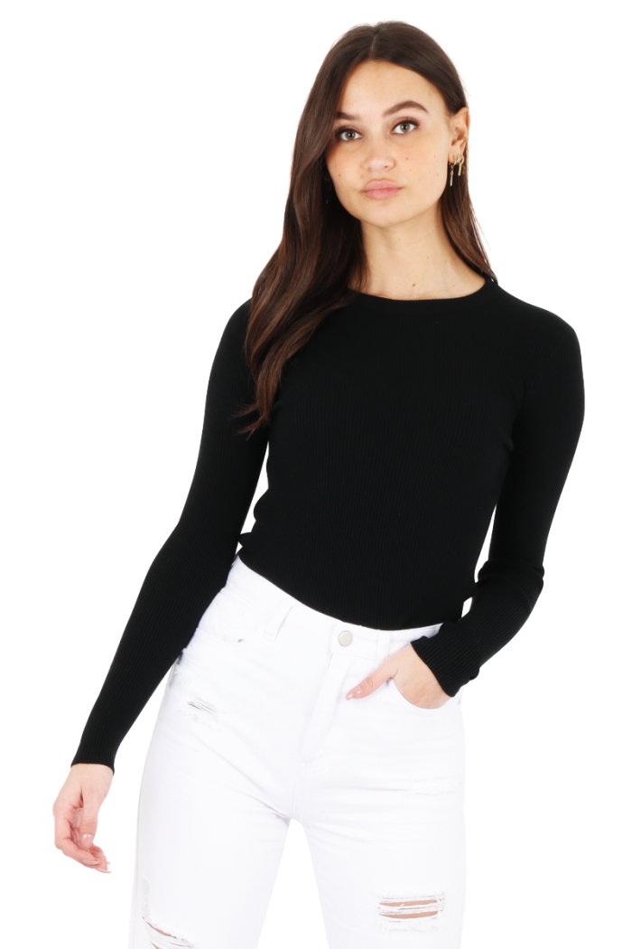 zwarte basic top